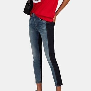 Current Elliott Color Blocked Stiletto Jeans 28